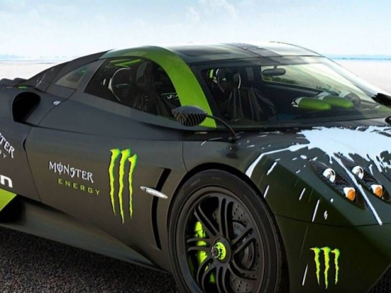 The Powerful Porsche Monster Energy Pagani Huayra And