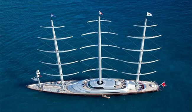 The Largest Private Sailboat In The World The Maltese Falcon Sailing Yacht Sailing Maltese Falcon Yacht