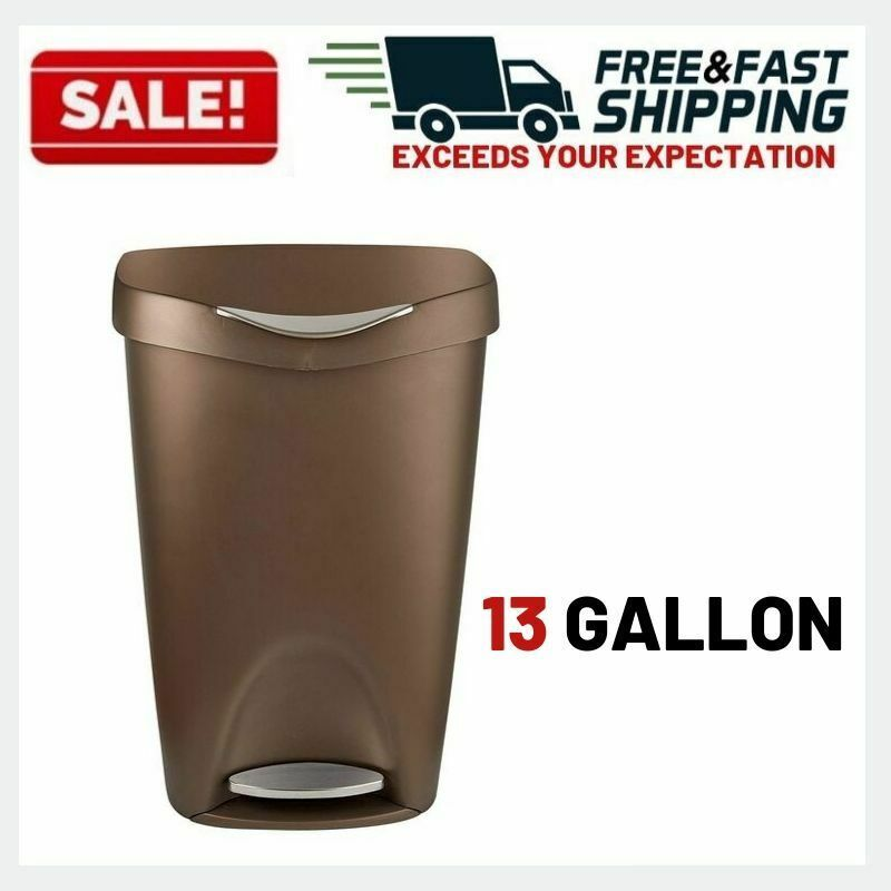 Details About Trash Can Kitchen Garbage Free Touch Bin Stainless