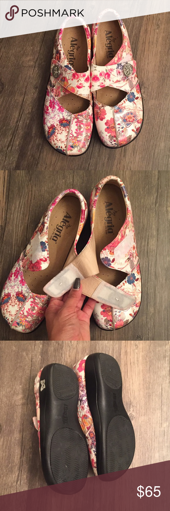 38 Floral like New Algeria Mary Jane work shoe 38 Floral like  New Algeria Mary Jane work Shoe. New with out box or tags. Alegria Shoes