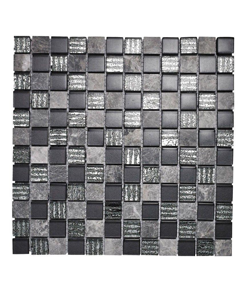 Glass And Lantau Grey Square Mosaic Tile Bathroom Ideas