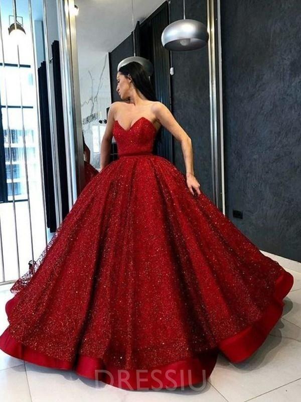 floor length sweetheart dress