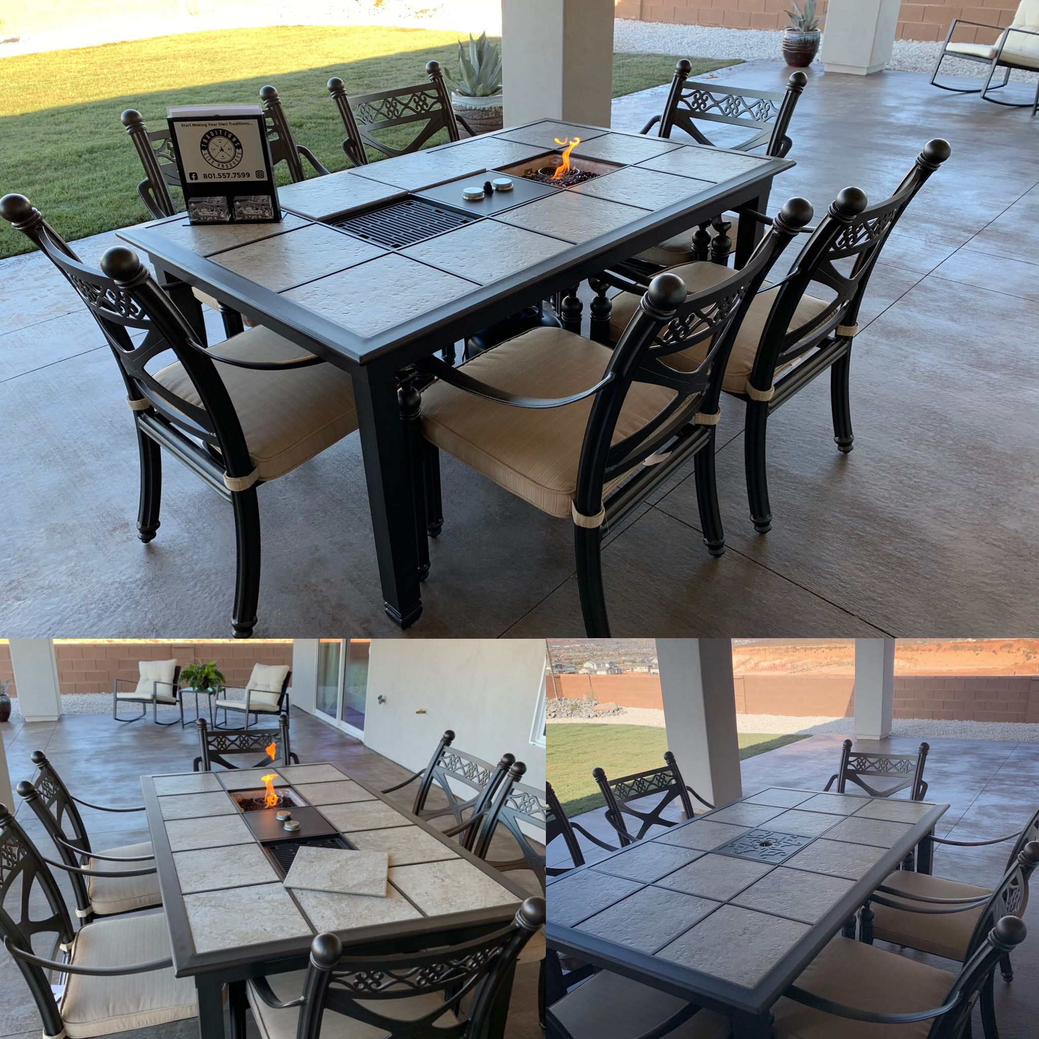 Fire Pit Or Grill Inserts In 2020 Outdoor Tables Outdoor Furniture