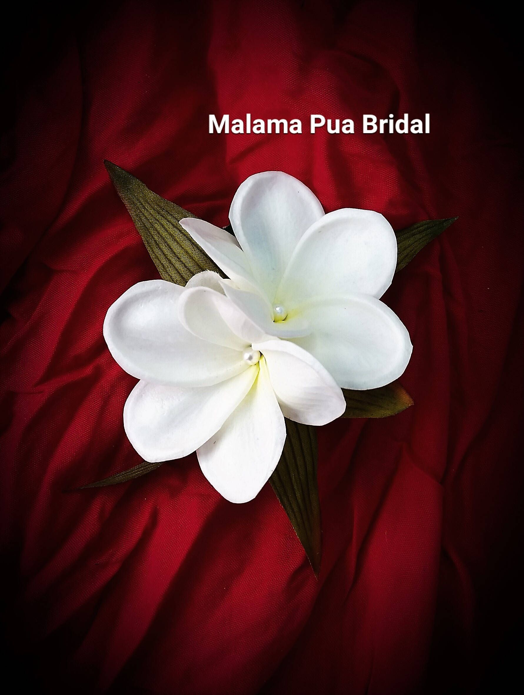 Wedding Hair Comb Hair Clip Hawaiian Flower Bridal Hair Accessory