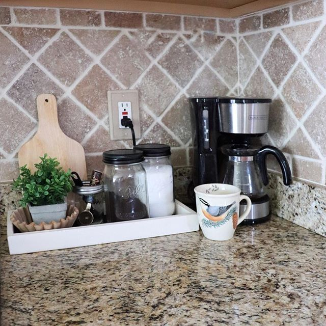 Coffee bar ideas on kitchen counter, coffee bar ideas ...