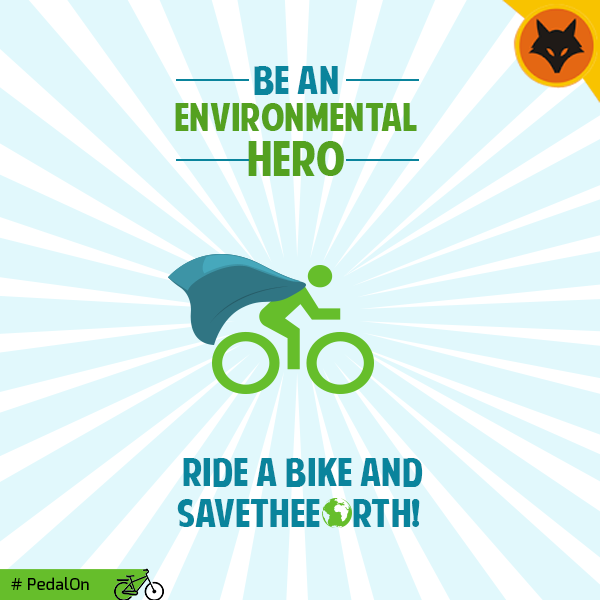 Being a hero is not about obtaining supernatural powers, it's about saving the Earth and all it's people by doing your bit, by cycling. #PedalON