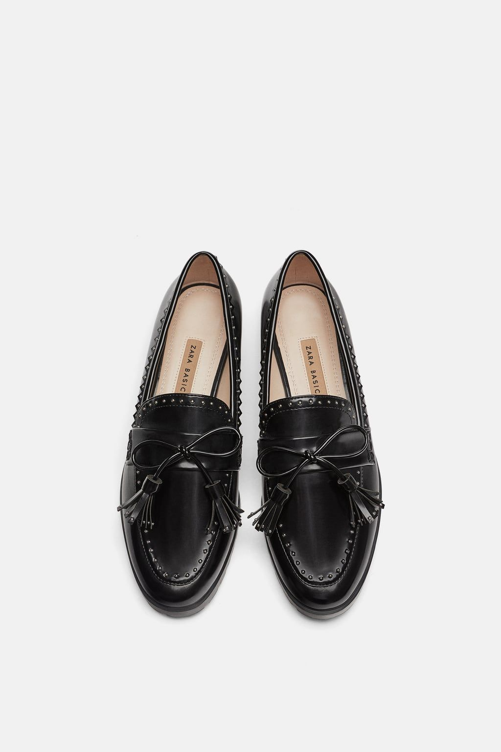 05f0b5146a9 Image 1 of MICRO-STUD LOAFERS from Zara