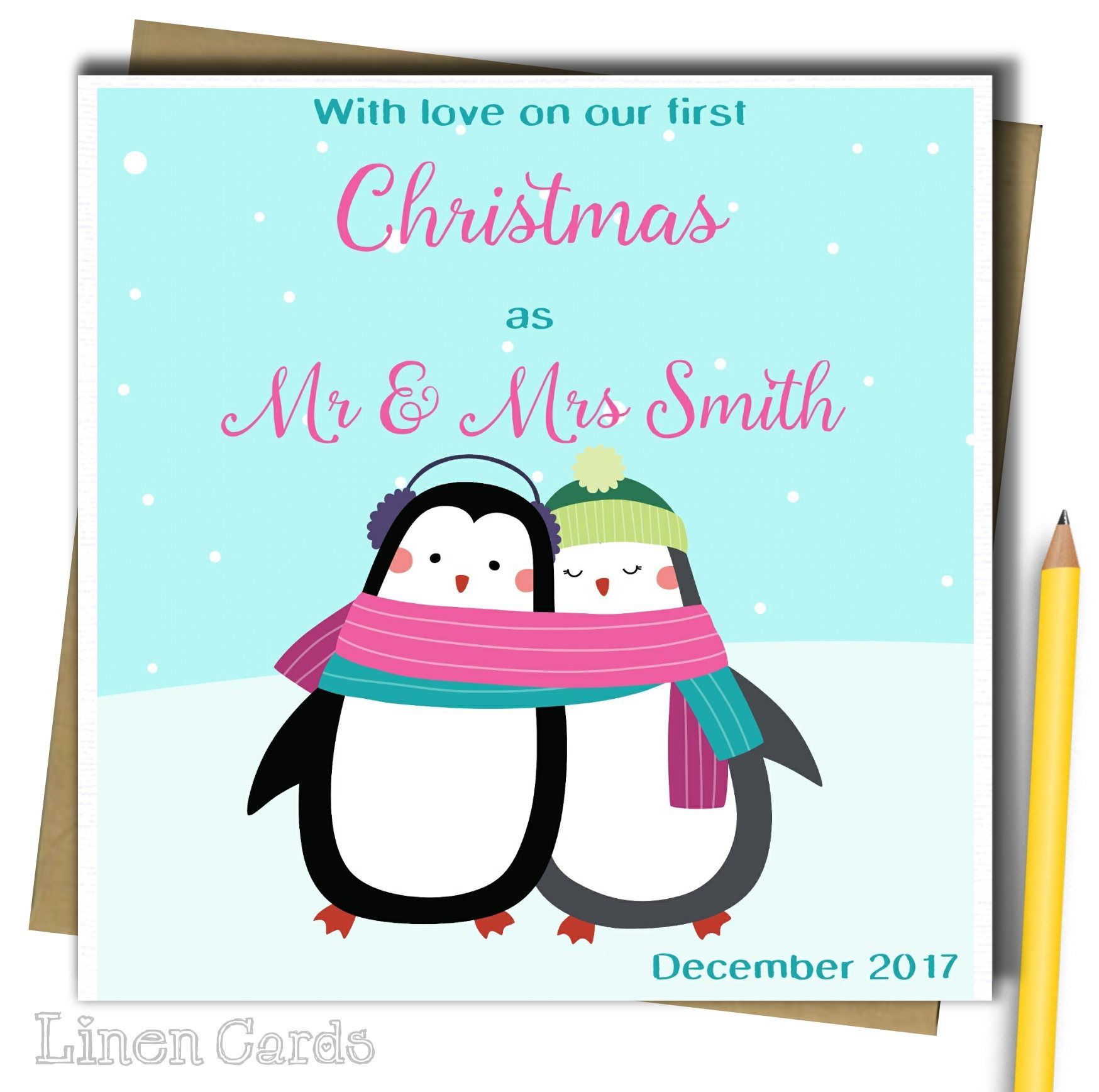 Personalised 1st first christmas as husband wife card can be personalised first christmas as husband wife card can be personalised with any message husband christmas card wife christmas card kristyandbryce Choice Image