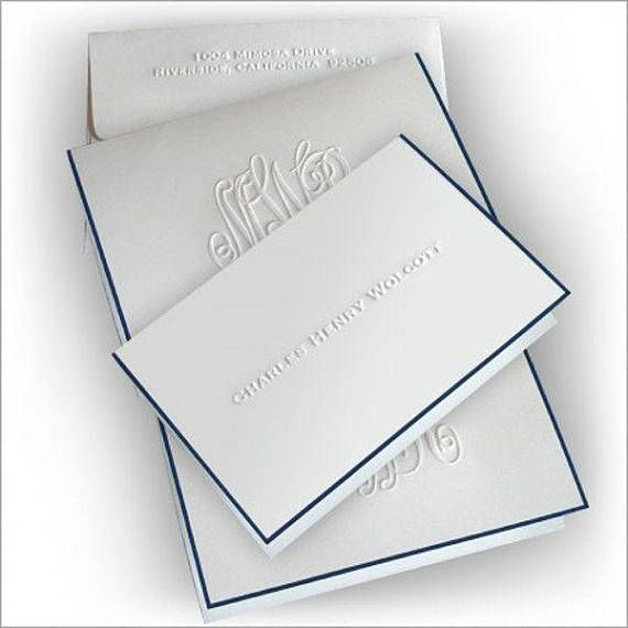photo about Embossed Stationery referred to as 25 Embossed Notes, Military Bordered Notes, Customized Notes