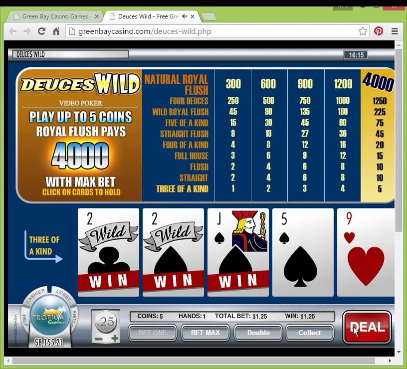 Deuces Wild Green Bay Casino Games Play for Free