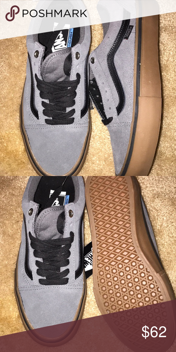 094b26149403 Old skool pro Vans Old school pro Vans Gray black and gun brown Ultracush  hd Padded ankle interior Low cut low top lace up laces Pewter gray Men s  size 7.5 ...