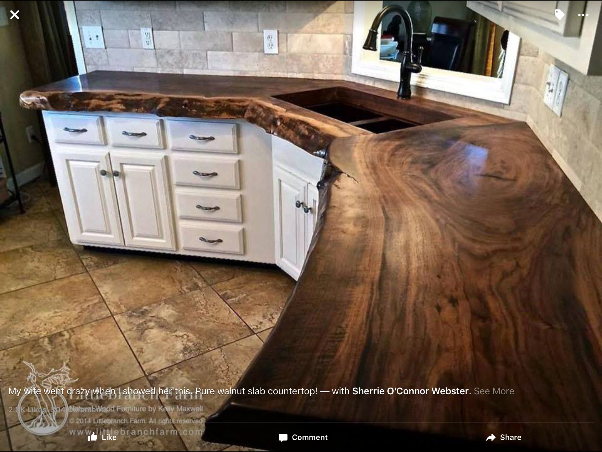 Captivating This Pure Walnut Slab Counter Top Adds Depth To This Kitchen With Its  Dark Warm Browns.