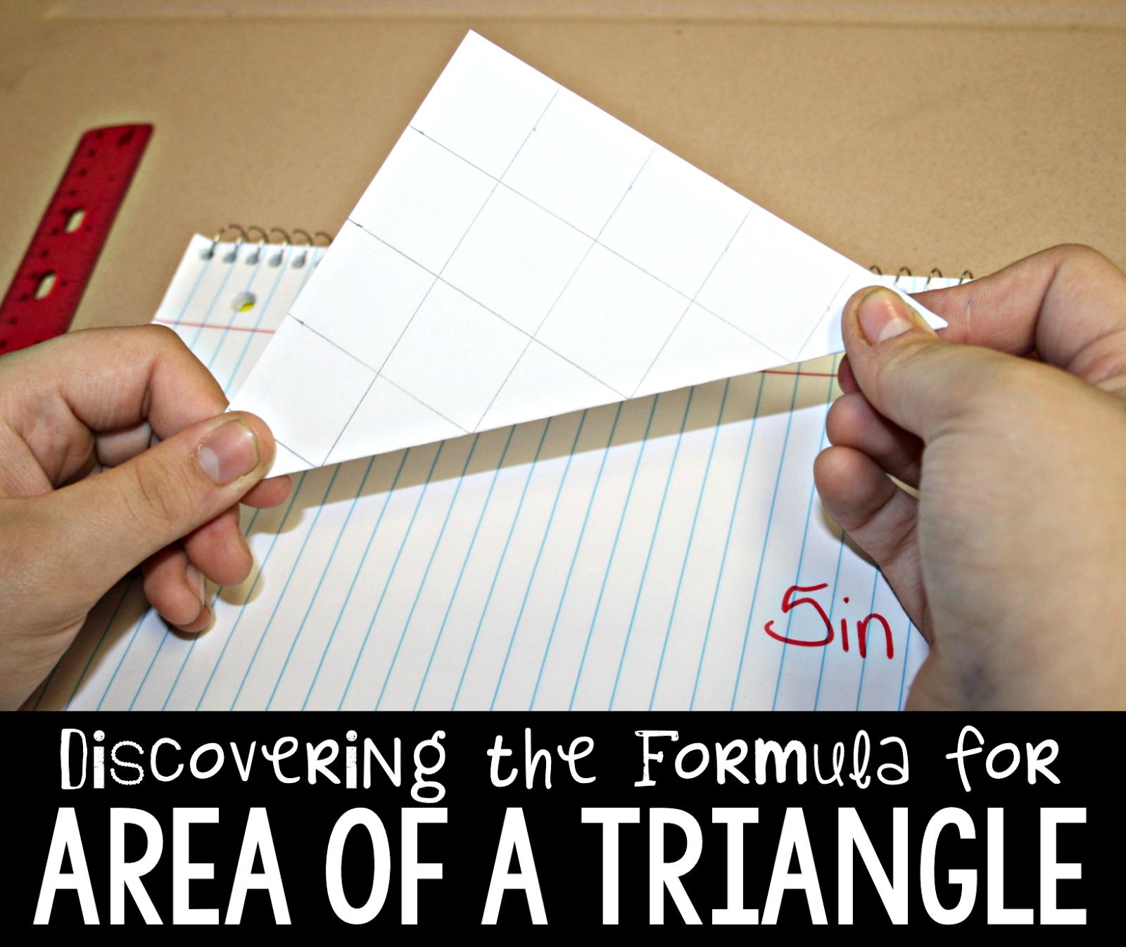 Area Of A Triangle Discovering The Formula
