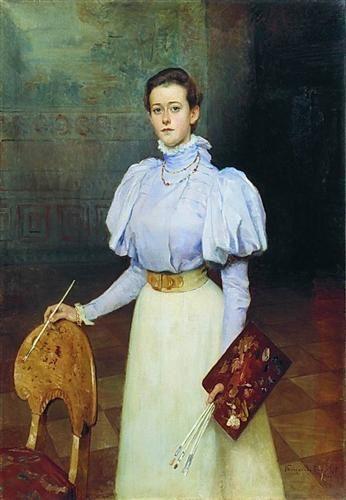 Портрет М.С.Шереметовой - Николай Богданов-Бельский,1898