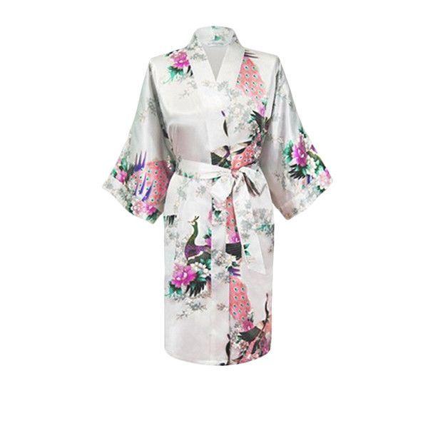 Medium Length Silk Womens Robes Kimono - Lightweight 179e4bea1fb9