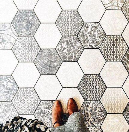 19+ ideas bathroom floor hexagon tile kitchens #bathroom