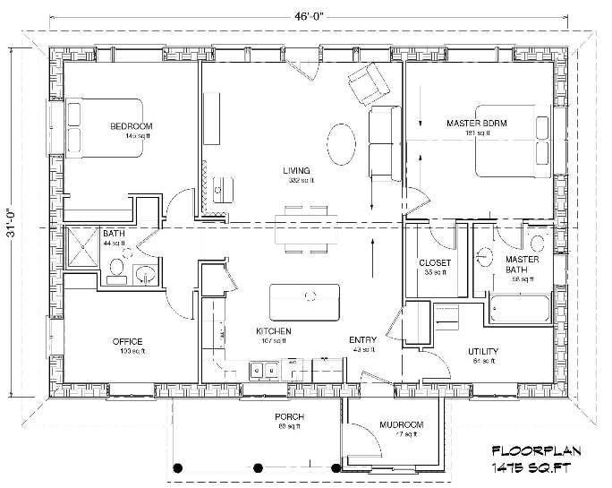 Straw Bale Home 1476 Sqft Eco Family 1500 House Plans Straw Bale House How To Plan