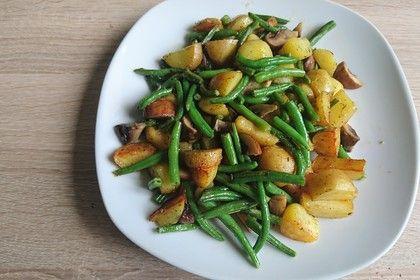 Kartoffel-Bohnen-Champignon-Pfanne #kartoffelnofen