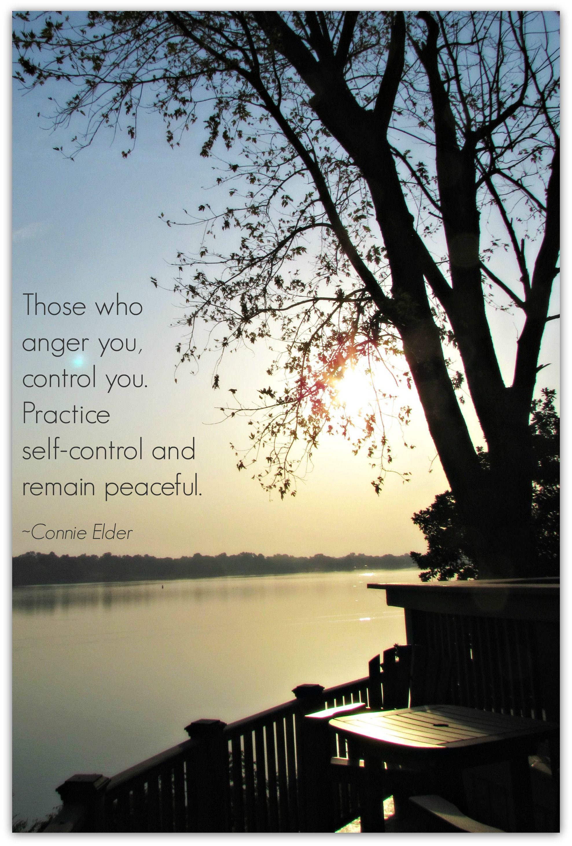 Practice Self Control