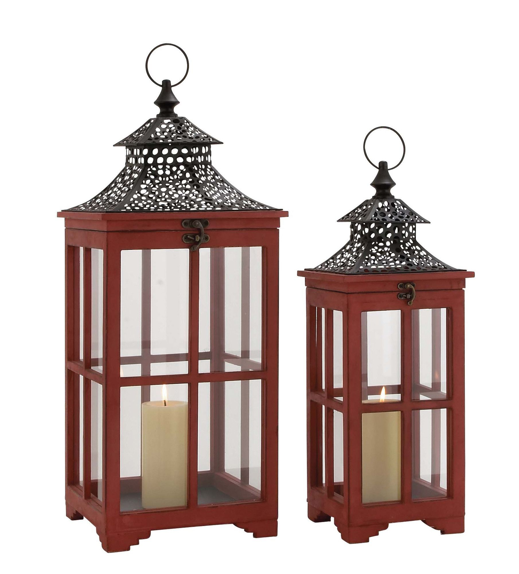 Stavoren piece metal glass lantern set products pinterest
