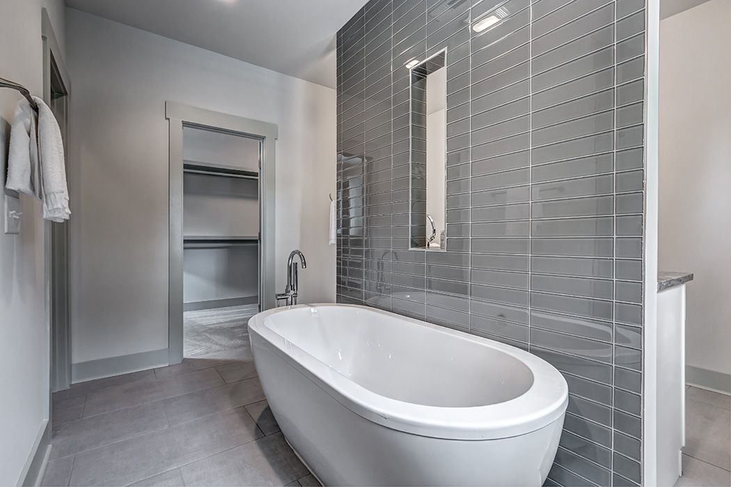 Superb Master Bathroom In New Construction Home In Plaza Midwood Home Interior And Landscaping Ferensignezvosmurscom