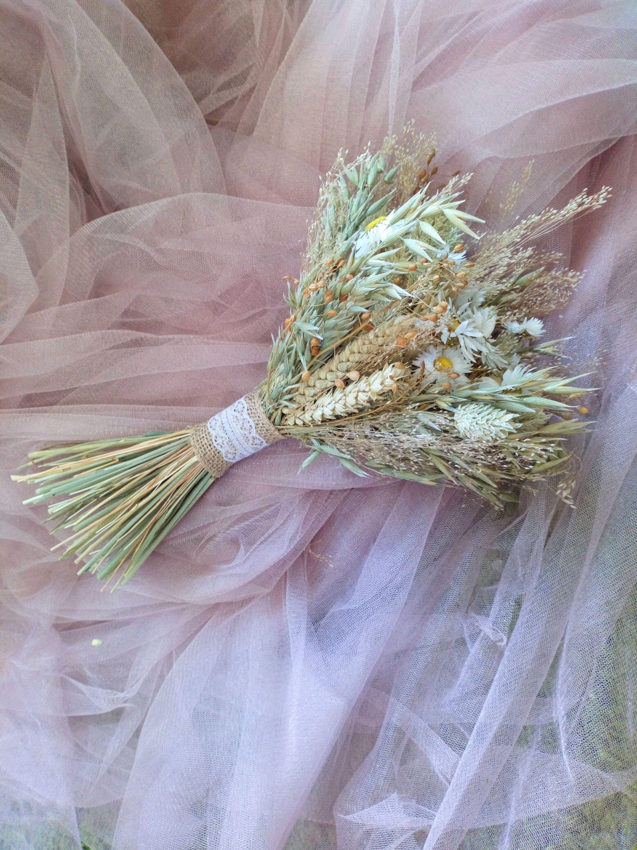 Daisy Dried Flower Bouquet, wedding flowers, bridal posy, rustic ...