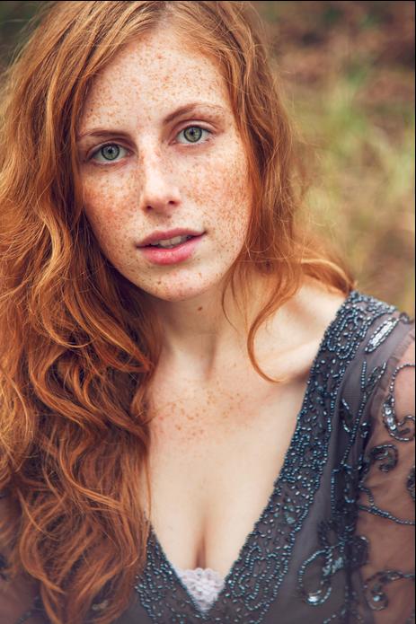 beautiful redhead women in bikini