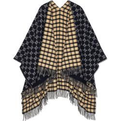 Wendbarer Poncho aus Wolle mit Ggmotiv Gucci #ponchodress