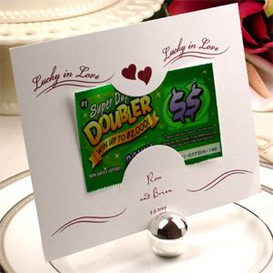 Lottery Tickets As Wedding Gift Lucky In Love Not Traditional