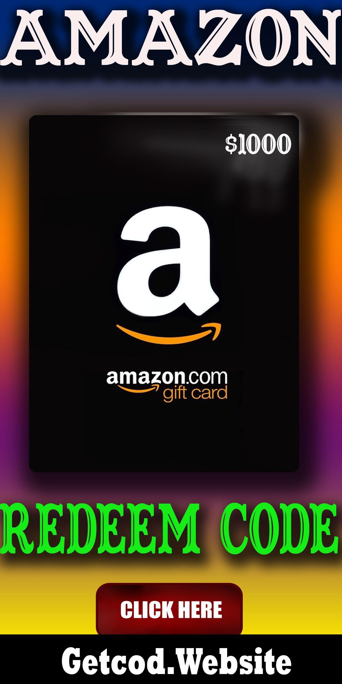 Free 1000 Amazon Gift Card Codes Free Amazon Gift Card Codes