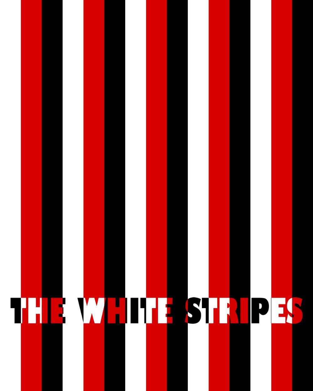 I Made A White Stripes Poster Jackwhite White Stripe Stripes The White Stripes