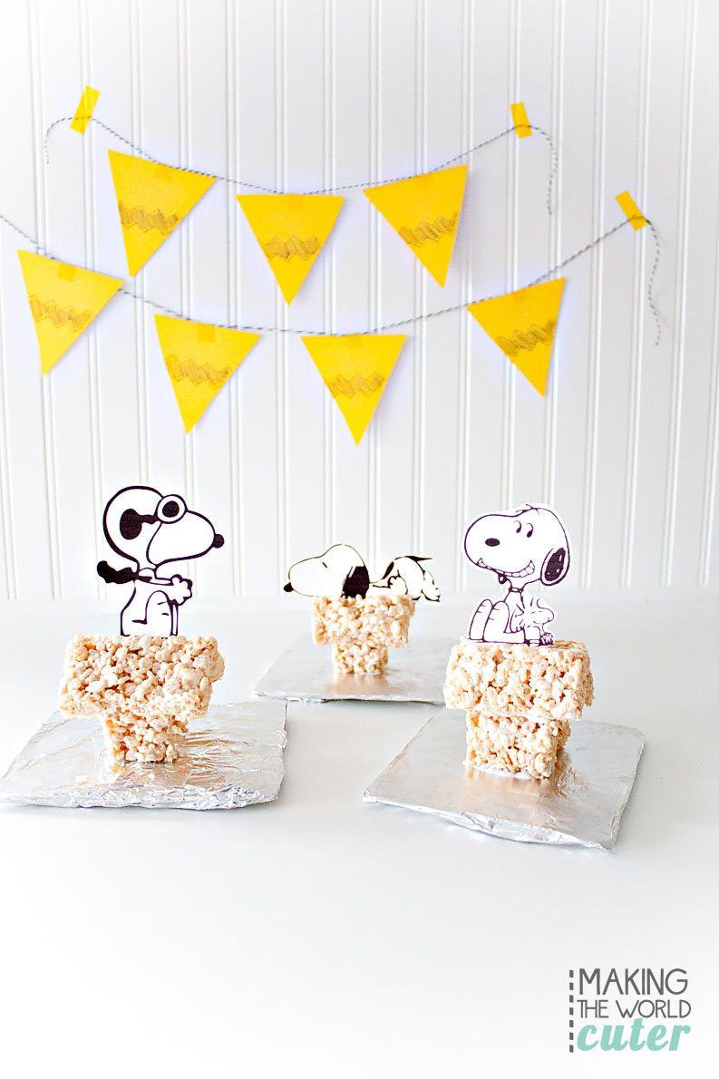 Rice Krispie Treat Snoopy House   Rice krispies treats, Rice ...
