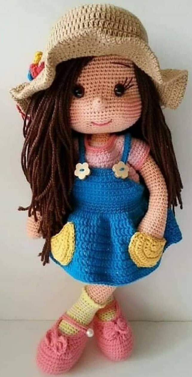 56+ Cute and Amazing Amigurumi Doll Crochet Pattern Ideas Part 35 #crochetdoll