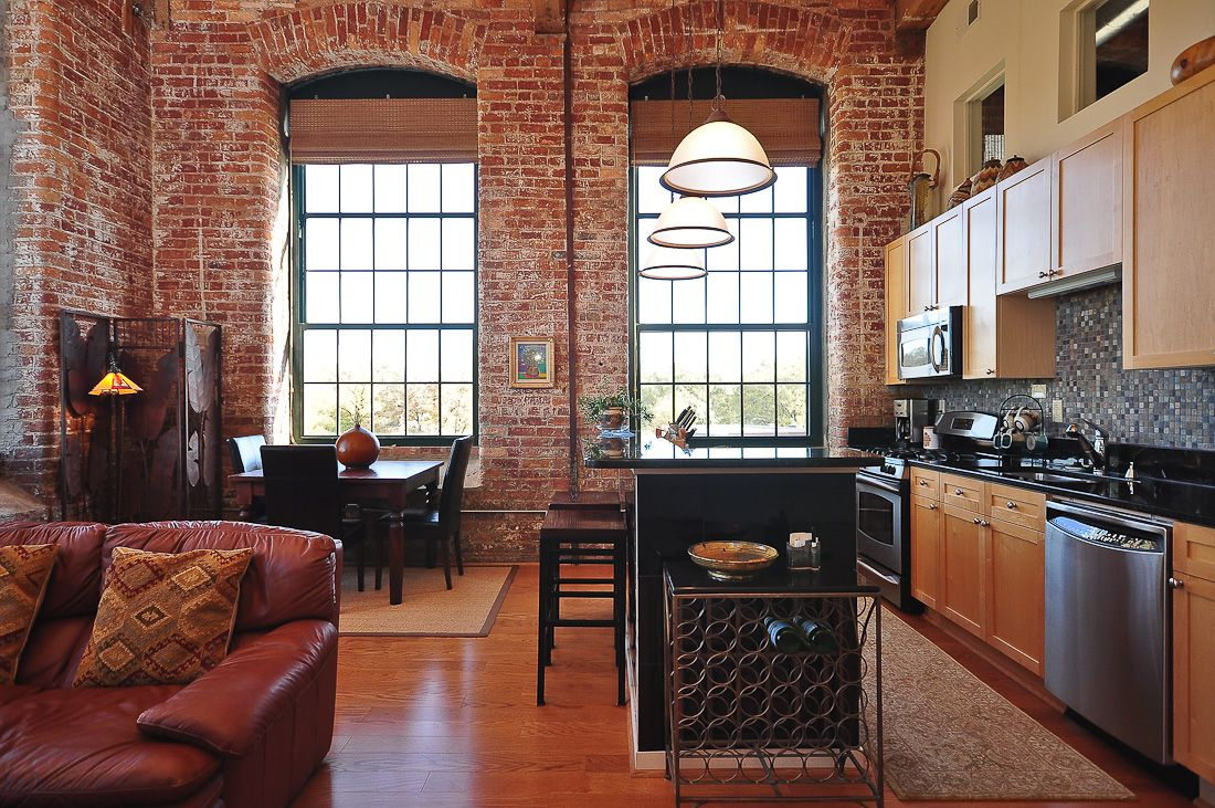 Lofts Greenville Sc With Images Home Brick Loft Sweet Home