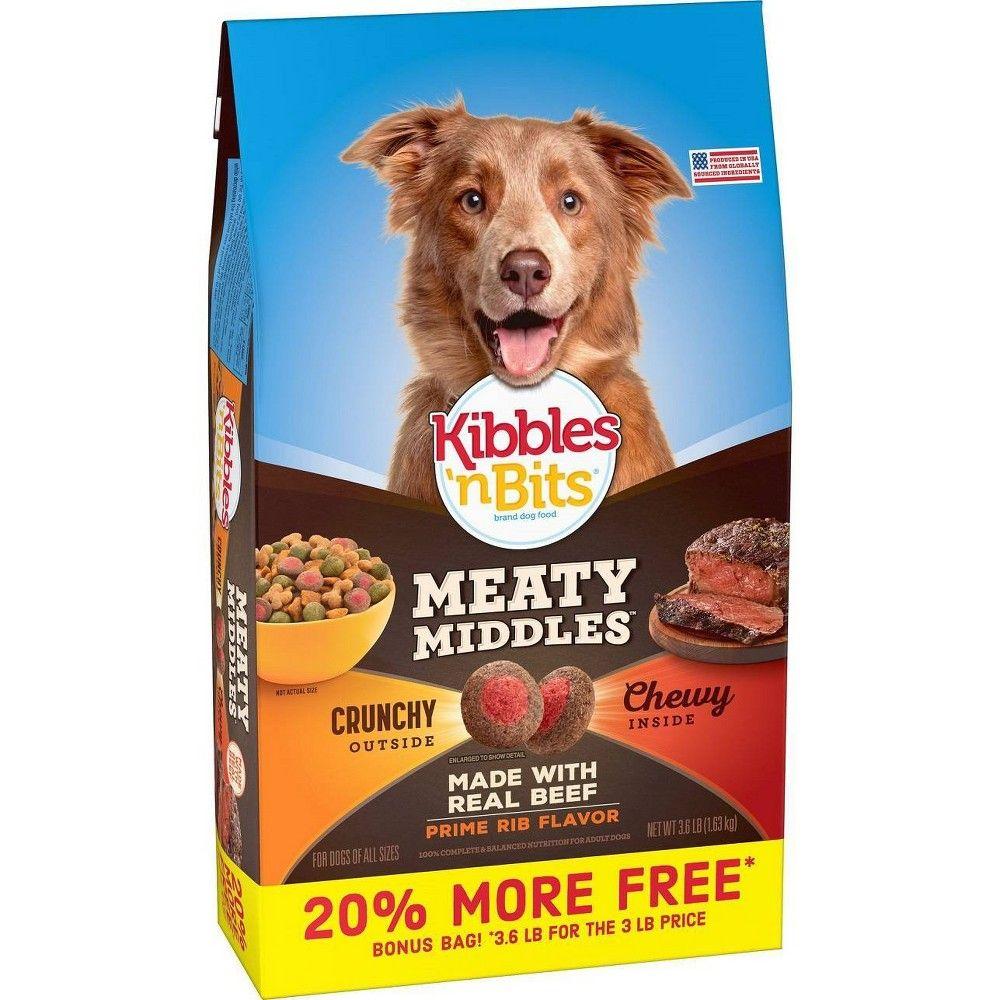 Kibbles N Bits Meaty Middles Dry Dog Food 3 6lb Dry Dog Food