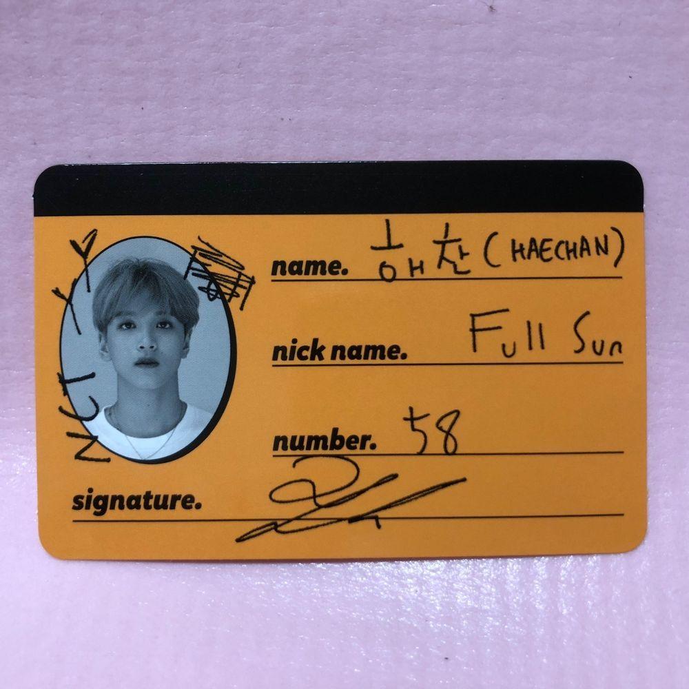 Nct Dream Haechan Official Crue Card 2nd Mini Album We Go Up Photo