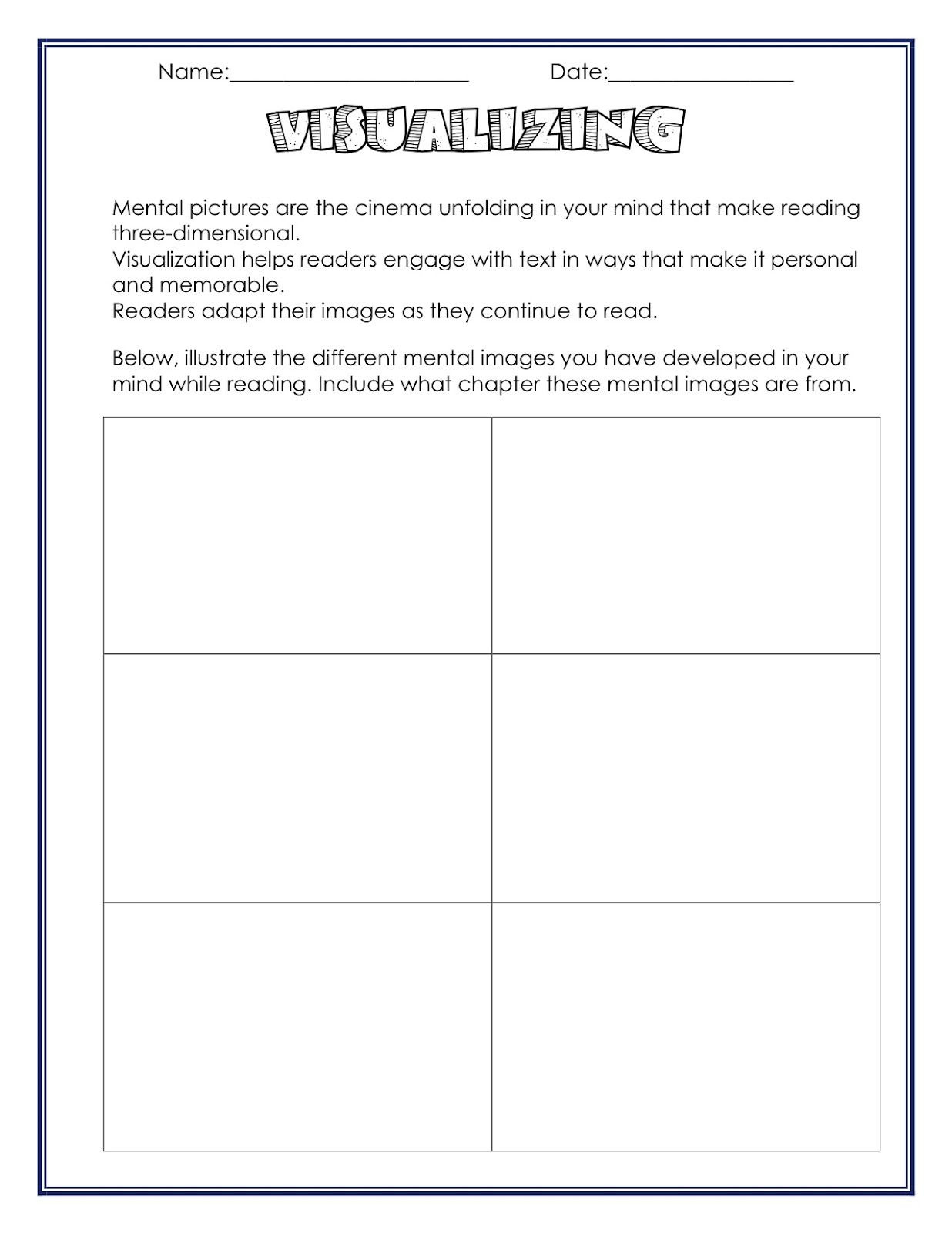 Worksheets Reading Comprehension Strategies Worksheets neat visualizing worksheet ideas for school pinterest amanda students to use while reading