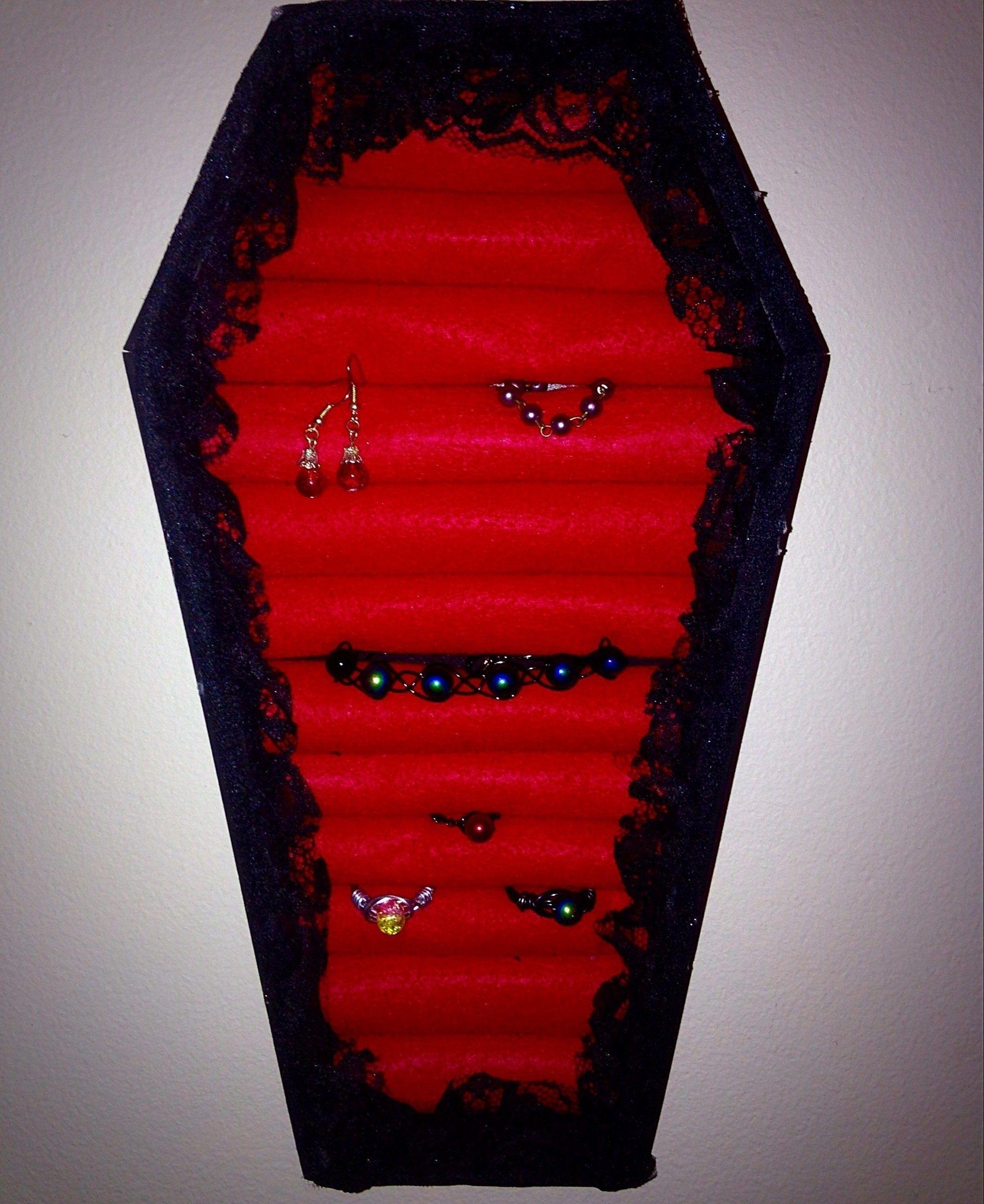 Diy Coffin Jewelry Box Jewellery display Display and Box