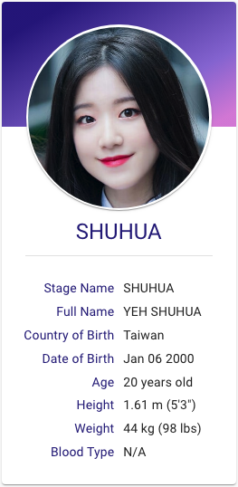 Yen Shuhua G I Dle Kpop Hallyu Idol Kpop Girl Bands Kpop Girl Groups Kpop Profiles