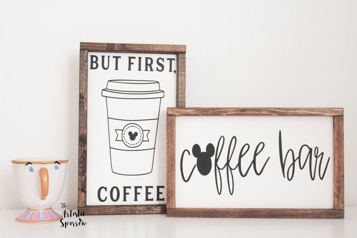 Disney But First Coffee Sign/// Coffee Bar. Disney Gift