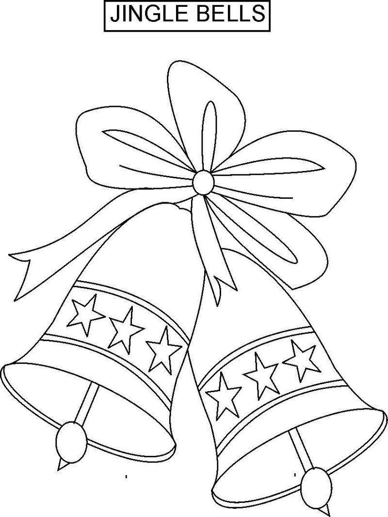 Christmas Coloring Pages Jingle Bells Coloring Pages Christmas Embroidery Patterns Christmas Drawing