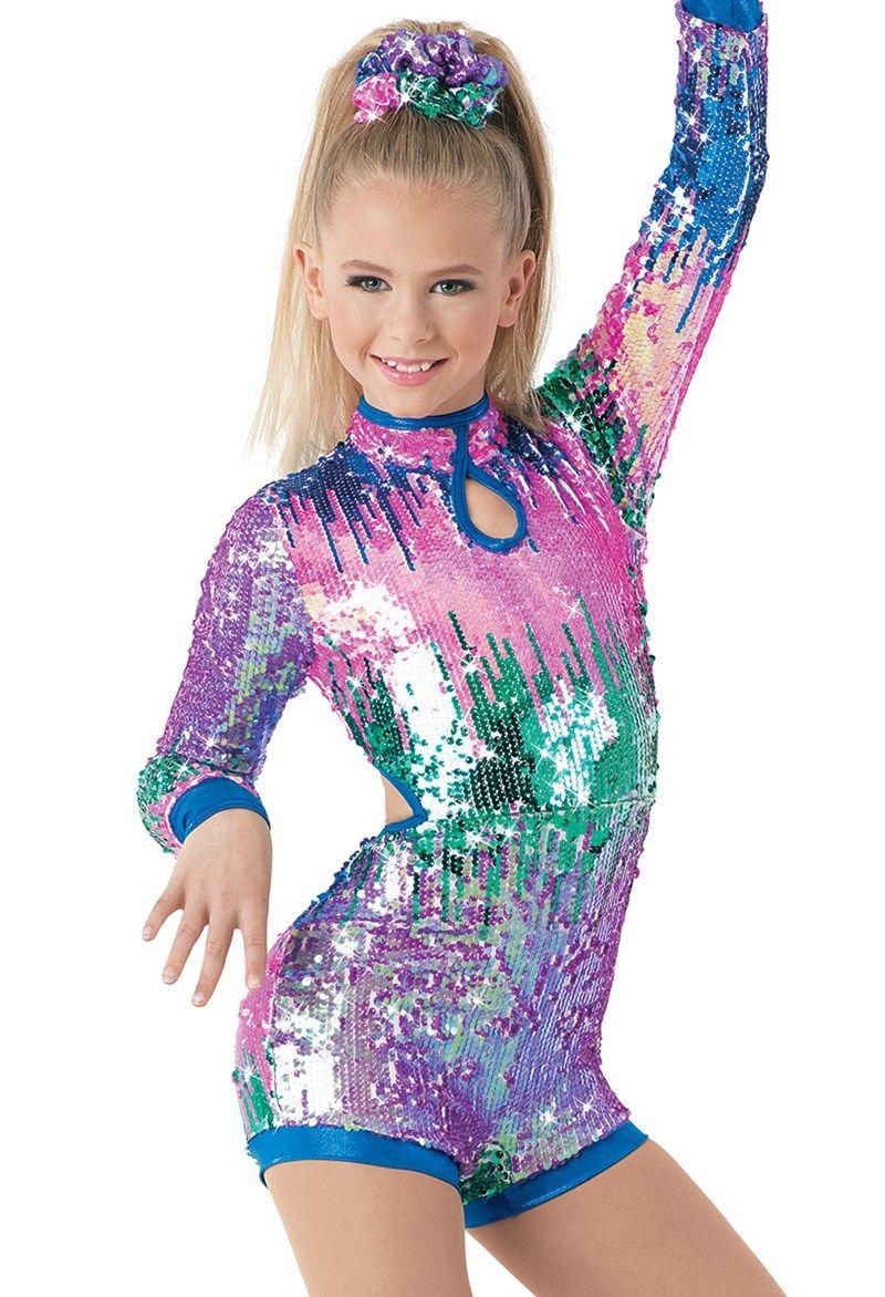 1c4fa71b32fa Weissman™ | Ombré Sequin Biketard with Cutouts Gymnastics Costumes, Dance  Recital Costumes, Jazz