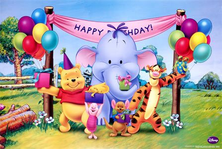 Disney Winnie The Pooh Friends Birthday Party Poster