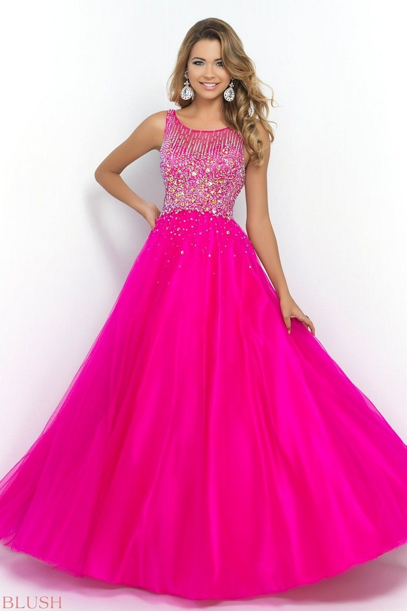 Shimmering and chic this lovely blush prom ballgown is a