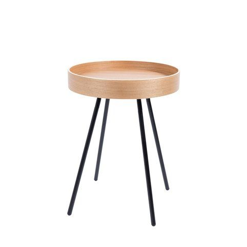 table dappoint ronde plateau amovible oak tray zuiver chne - Table D Appoint Ronde