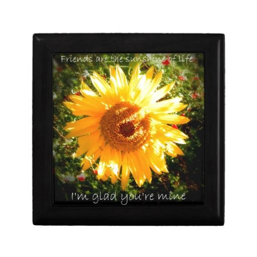 Sunflower for a Friend Jewelry Boxes #sunflowers #sunflower #flower #keepsake #box