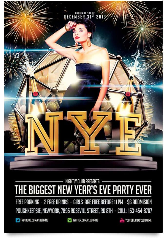 29 Free New Year Flyer Templates In PSD, Vector, AI Flyer template