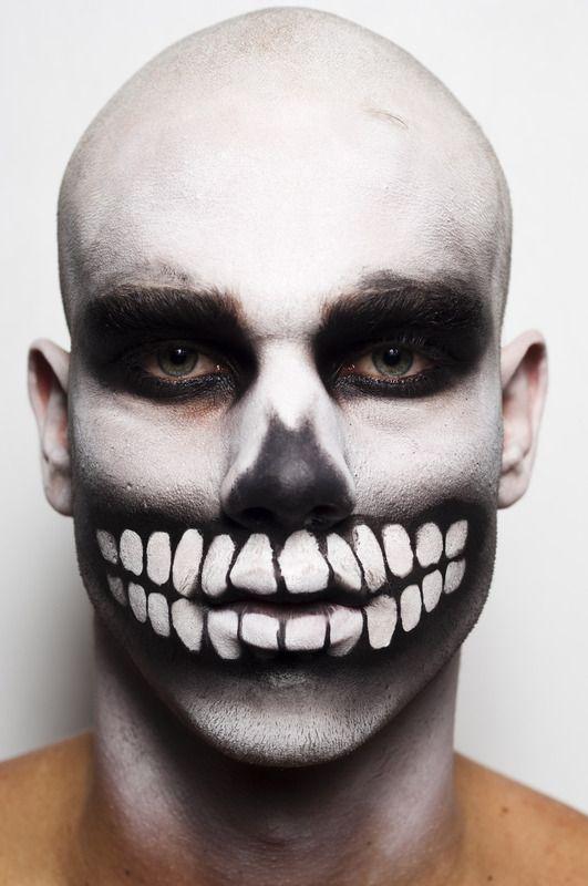dia de los muertos skull makeup man flight of fancy. Black Bedroom Furniture Sets. Home Design Ideas