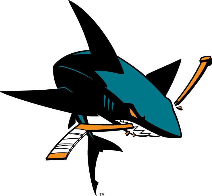 San Jose Sharks Secondary Logo 2007 Present San Jose Sharks San Jose Sharks Hockey Shark