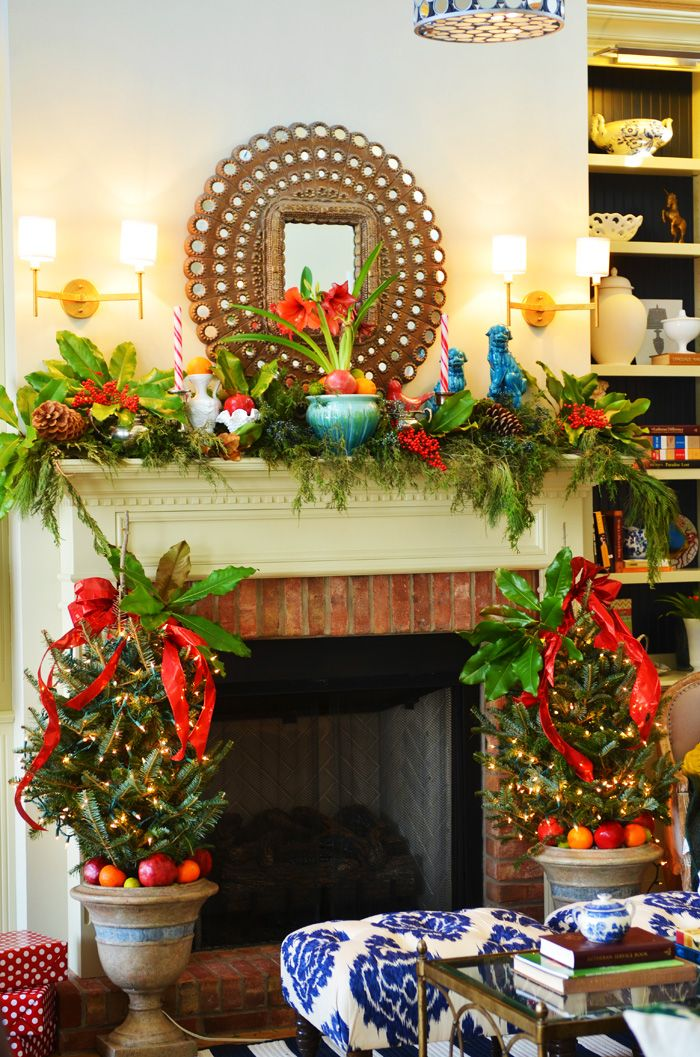 natural southern christmas decor Merry  Bright Pinterest